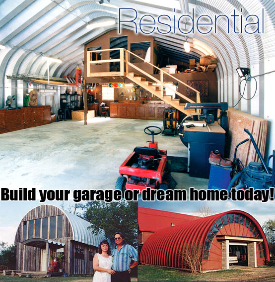Residential steel buildings prefab houses green homes for Prefab interior arches