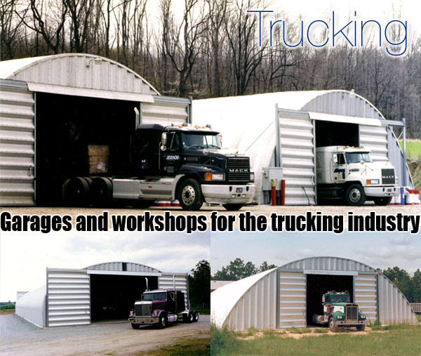 Garages For Trucks : Steel truck storage prefab garage kit
